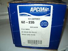 APCO AIR AC COMPRESSOR W/CLUTCH ASSY NEW 62-235 CHEVY S-10 GMC SONOMA