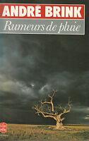 Livre Poche rumeurs de pluie André Brink éditions  roman Stock 1979 book