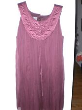 NWT by Muse: Wine color cocktail baby doll chiffon dress size 10 stunning color!