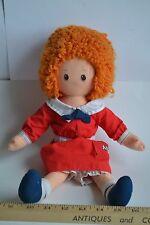 "Vintage Little Orphan Annie 1982 Plush Doll Knickerbocker 16"""