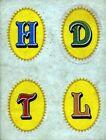 ADESIVO/ by PANINI'S Stickers * INIZIALI . . . H - D - T - L *