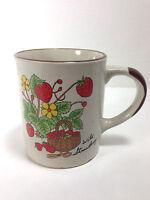 Vintage Wild Strawberry Coffee Mug Cup C. Mid Century