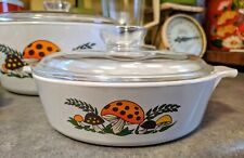 Vintage Sear's Merry Mushroom Covered Casserole Dishes W/ Matching Ceramic...