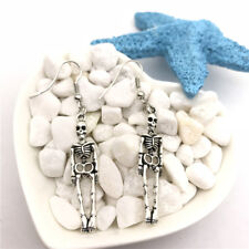 Skeleton Charm Earrings Tibet silver Charms Earrings Charm Earrings for Her
