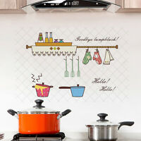 HK- Cookers Anti-oil Heat Resistant Kitchen Hood Cabinet Wall Sticker Tile Decal