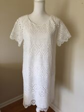 Madewell JCREW New Lace Lyric Dress White Size 10 E8130 $158 SOLD OUT!