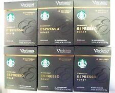 72 Pods Total Starbucks Verismo Dark Espresso Roast 6 boxes Best By: Dec/2019
