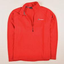 Berghaus señores suéter Sweater punto talla XL Fleece half ZIP rojo 83457
