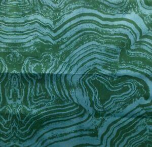 COWTAN & TOUT Malachite Emerald Cotton Velvet Remnant New