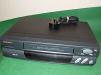BUSH VCR807 Video Cassette Recorder VHS Smart VCR Black Small FULLY TESTED