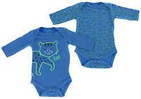 2er Set Baby Bio Baumwolle Langarm Body Strampler  0 - 24 Monate 50 - 92 Katze
