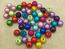 """50 Mixed Color 3D Illusion Acrylic Miracle Round beads 10mm(3/8"""") Spacer Craft"""