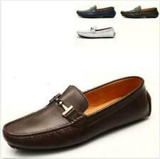 Men's Leather Casual Slip On Loafers Buckle Driving Moccasins Comfort Shoes Size