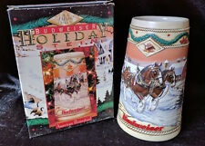 1996 Budweiser Holiday Christmas Beer Stein w/ Box American Homestead Certificat