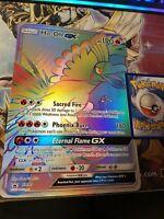 POKEMON LARGE OVERSIZED JUMBO CARD: HO-OH GX SM80 JUMBO LARGE PROMO RAINBOW RARE
