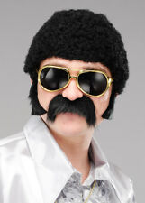 Mens 1970s Short Black Curly Afro Wig