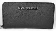 Michael Michael Kors Black Silver Slim Tech Phone Case Wristlet