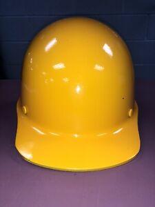 MSA Fiberglass Hard Hat - Medium Size - Suspension - High Visibility Yellow