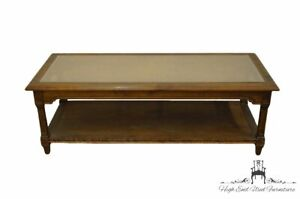 """ETHAN ALLEN Classic Manor Solid Maple 52"""" Cane Topped Accent Coffee Table 15-..."""