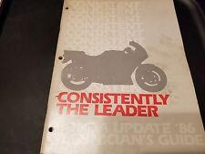 Honda Technician's Guide 1986 New Model Update