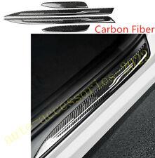 Carbon Fiber Side Door Sill Guards Plate Cover Trim For BMW 3 Series E90 E92 E93