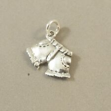 .925 Sterling Silver 3-D CUT OFF SHORTS CHARM Clothes Fashion Jean NEW 925 DU82