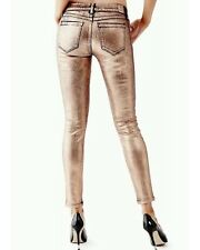 Guess Women's Mid Rise Power Skinny Jeans In Oxidized Copper Wash Size 25