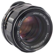 Asahi Super Multi Coated Takumar 50mm f1.4 M42 Pentax Lens for Film and Digital