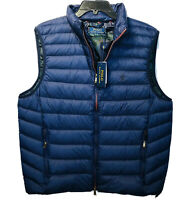 Polo Ralph Lauren Water-Repellent Packable Puffer Down Vest MENS L Navy $188 NEW