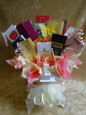 Peach & Cream Colour Box Set Perfume Flower Bouquet Samples Ribbon Bow Gift Nan