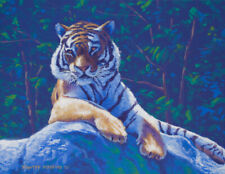 Original Acrylic Painting of a Tiger 11x14 Wildlife Art by Timothy Stanford