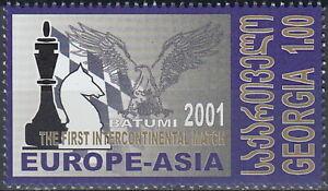 Georgia Chess 1st Intercontinental Match Europe-Asia 2001 MNH-6 Euro
