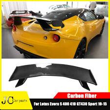 Fit For Lotus Evora Coupe 10-16 Rear Trunk Spoiler Sport Wing Refit Carbon Fiber