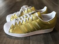 Adidas Originals Superstar Metallic Gold Size 9 Lifestyle Women's Sneaker Shoes