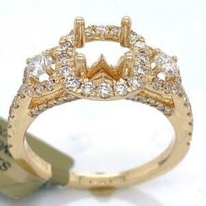 1.00 TCW Engagement Semi-Mount Setting (For 1.00 Ct Round) Rings Size 6.75