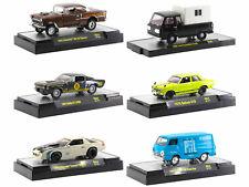Auto Trucks 6 Pc Car Set Release 64 In Cases 1/64 Diecast M2 Machines 32500-64