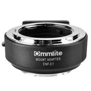 Commlite CM-ENF-E1 PRO Auto Focus Lens Adapter for Nikon F lens to Sony E mount