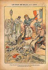 Caricature Antiparlementaire Députés Franc-Maçons Anarchie WWI 1914 ILLUSTRATION