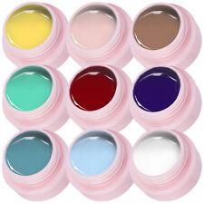 9 colors Nail Art Drawing Pigment UV Gel Polish Nail Polish Paint Kit White Red