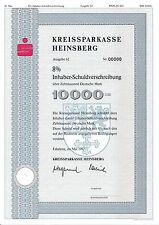 Kreissparkasse Heinsberg IHS DM Bank Anleihe 1992 Erkelenz Sparkasse NRW Wappen