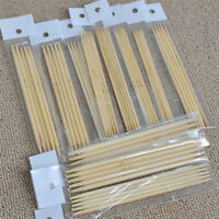 55Pcs Double Pointed Knitting Bamboo Needles Sweater Glove Knit Tool Set 13cm