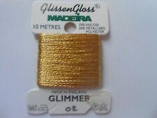 Madeira Glissen Gloss - Glimmer Gold 10 metres