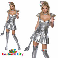 Adults Ladies Sexy TIN WOMAN Official Wizard Of Oz Fancy Dress Costume