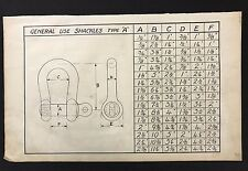 Harland & Wolff 1930's Eng Drawing - GENERAL USE SHACKLE TYPE A (P3), Titanic