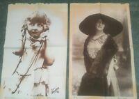 1910 LOTTO MANIFESTI PUBBLICITARI ATELIER NADAR FOTOGRAFO DI PARIGI