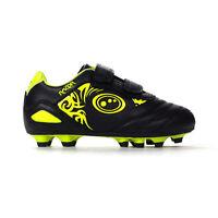 Optimum Razor Strap Moulded Kids Football Boot Black/Yellow - UK 8