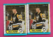 2 X 1989-90 OPC  # 168 PENGUINS ZARLEY ZALAPSKI  ROOKIE  CARD (INV# D1570)