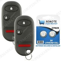 2 Replacement for Honda 02-04 CR-V 02-05 Civic Si 05-11 Element Remote Key Fob