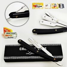 BARBER STRAIGHT CUT THROAT SALON SHAVING RAZOR SHAVETTE RASOI NAVAJA + BLADES