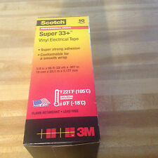 Scotch Super 33+ Vinyl Electrical Tape, 3/4 x 66 ft  10 rolls